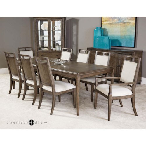 American drew park studio casual dining room group for Casual formal dining room
