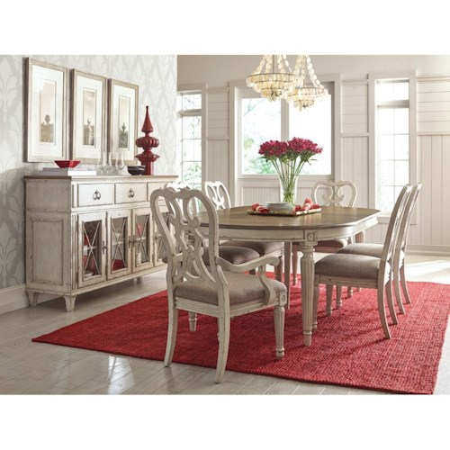 American Drew SOUTHBURY Formal Dining Room Group Stoney