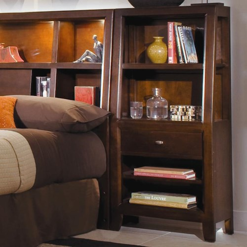American Drew Tribecca 912 402 Bookcase Nightstand Northeast Factory Direct Night Stands
