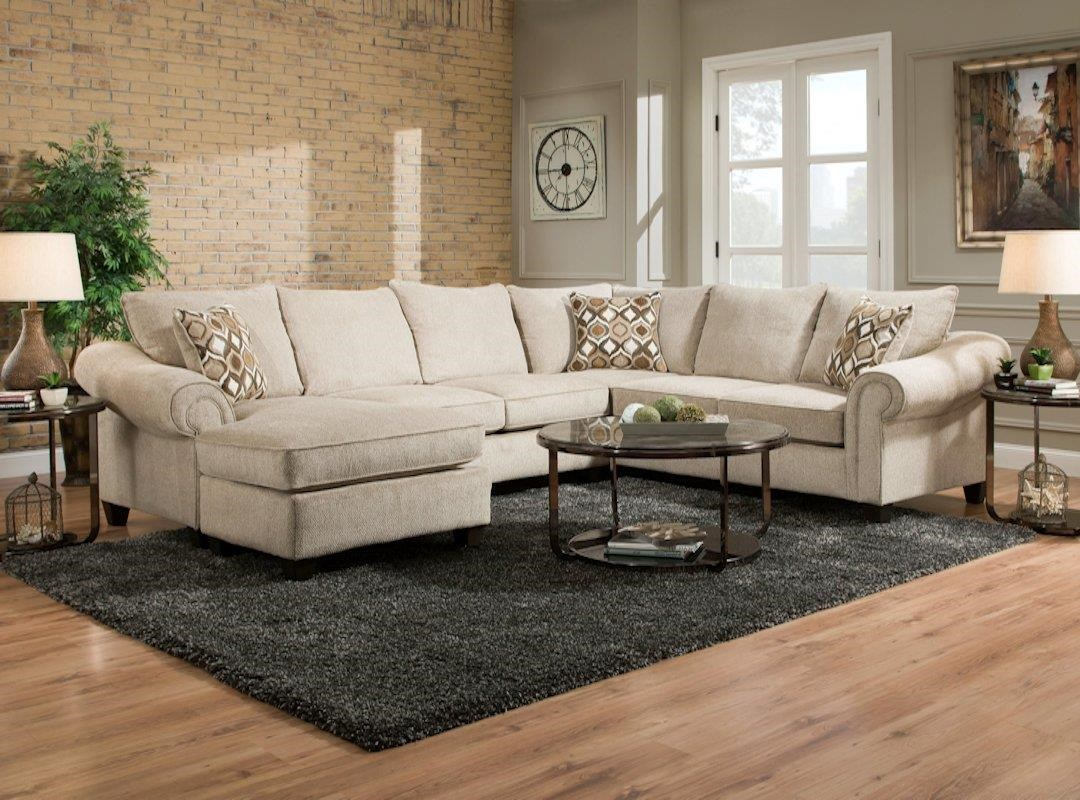 American Furniture 2800 Sectional Sofa with Chaise on Left