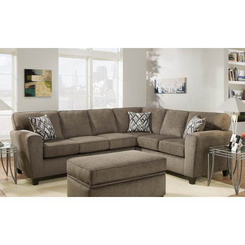 Sectional Couch Hattiesburg Ms: American Furniture 3100 Sectional Sofa (Seats 5