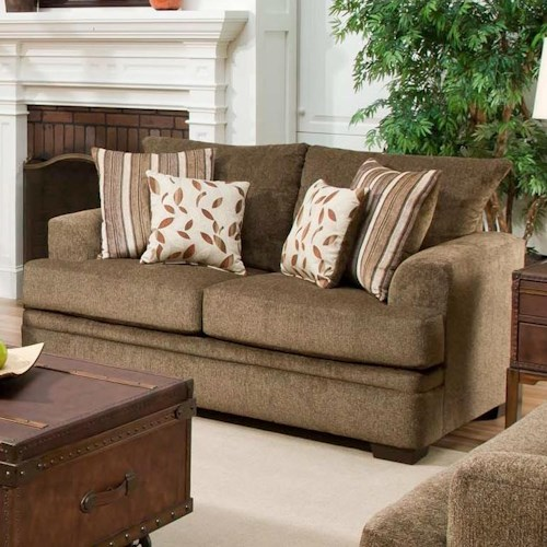 American Furniture 3650 Casual Loveseat With 2 Seats Prime Brothers Furniture Love Seat Bay