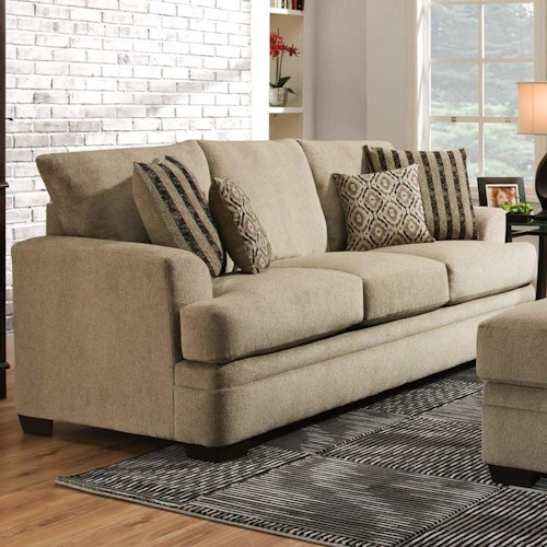 Sectional Couch Hattiesburg Ms: American Furniture 3650 Casual Sofa With 3 Seats