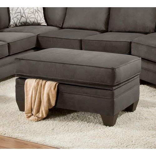 Sectional Couch Hattiesburg Ms: American Furniture 3810 Storage Ottoman For Sectional Sofa