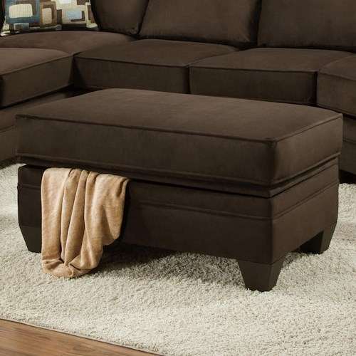 American furniture 3810 storage ottoman for sectional sofa for Sectional sofa north carolina