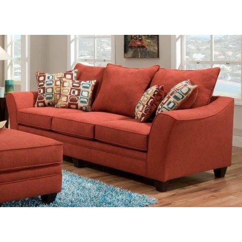 American Furniture 3850 Haskett Algerian Elegant Sofa With