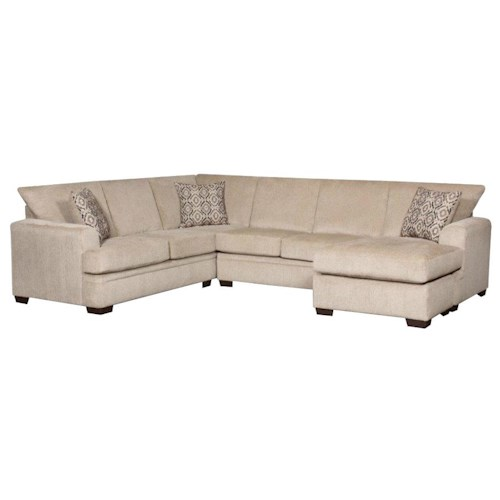 American furniture 6800 sectional sofa with right side for Sectional sofa with right side chaise