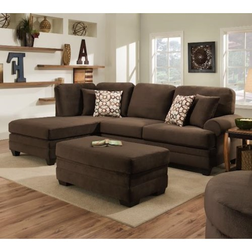 American Furniture Sectionals: American Furniture 7000 Three Seat Sectional Sofa With