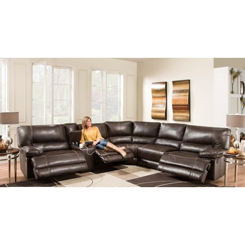Sectional Couch Hattiesburg Ms: American Furniture AF800 Reclining Sectional Sofa (Seats 5