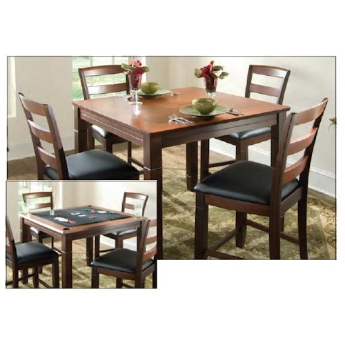 Counter Height Poker Table : Melrose Game Table with Slat Back Chairs Johnny Janosik Pub Table ...