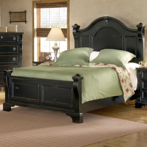 American woodcrafters heirloom queen low post mansion bed for American woodcrafters bedroom furniture
