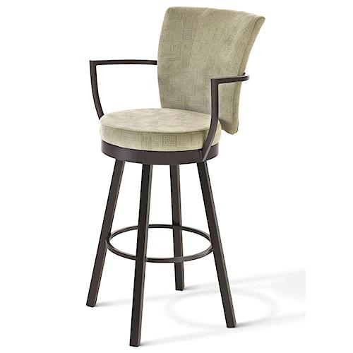 Amisco boudoir 26 counter height cardin swivel stool for Boudoir stoel