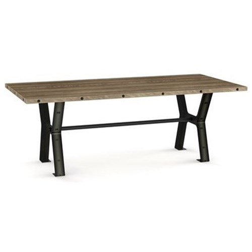 Amisco customizable dining parade dining table with leaves belfort furnitur - Table a manger industrielle ...