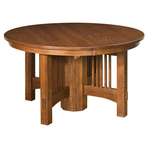 Hawley 48 Round Expandable Dining Leg Table Morris Home