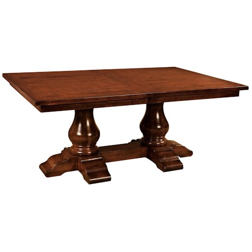 """Wide Dining Room Tables: Wellington 42"""" Wide Rectangular Trestle Dining Table"""