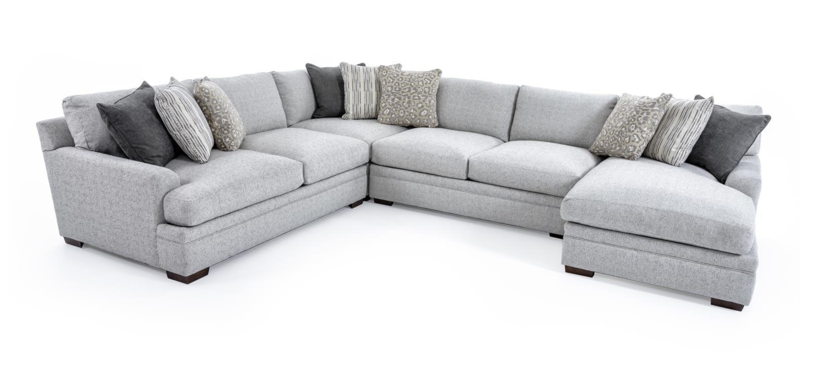 4 Pc Sectional Sofa Artemis Ii 4 Pc Microfiber Sectional