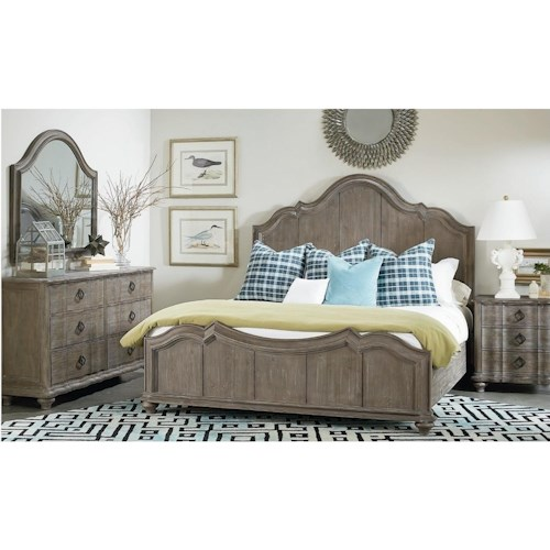 A R T Furniture Inc Allie Queen Bedroom Group Stoney