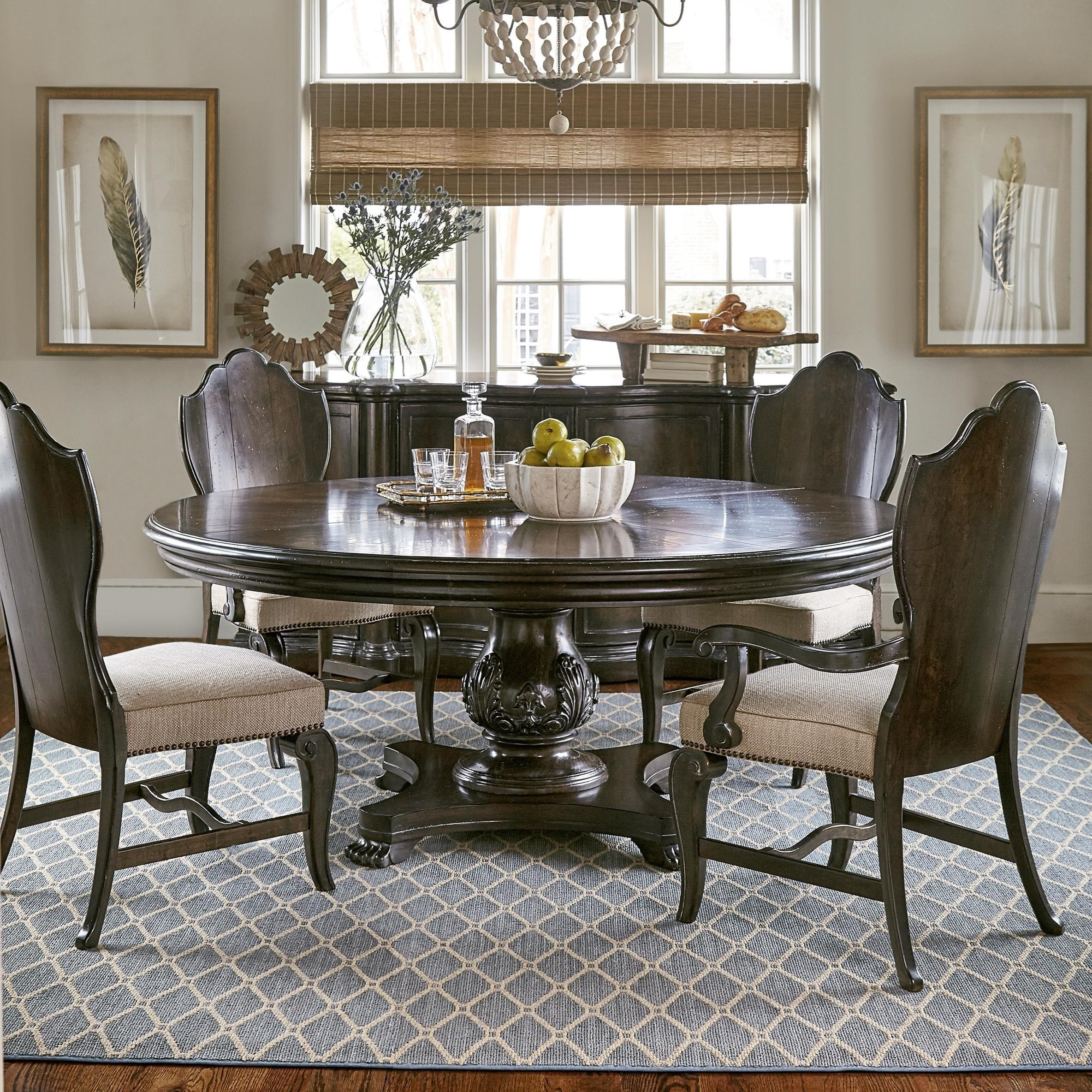 ART Furniture Inc Continental 5 Piece 72quot Round Dining  : continental 1157662532237225 26152x2372052x237204 b1jpgscalebothampwidth500ampheight500ampfsharpen25ampdown from www.dhifurniture.com size 500 x 500 jpeg 91kB