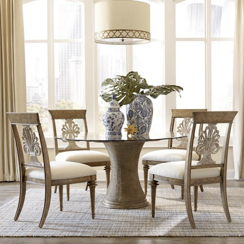 A r t furniture inc pavilion 5 piece round table set for A r t dining room furniture