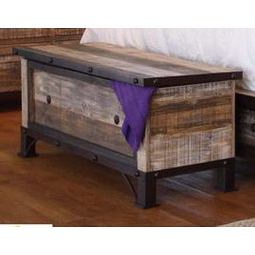 International Furniture Direct 970 Trunk Ivan Smith Furniture Bench Benches