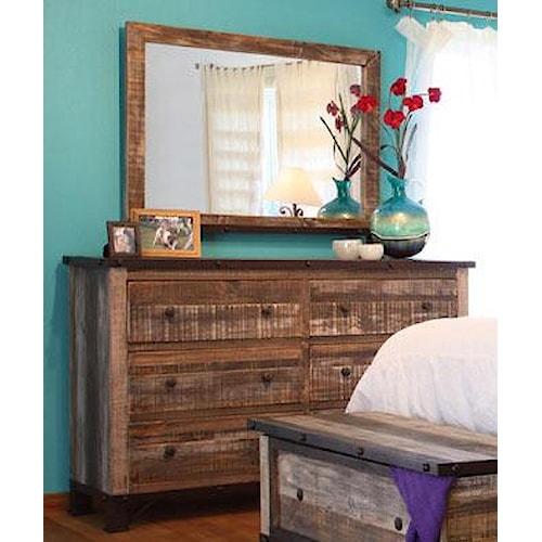 International Furniture Direct 970 Dresser Mirror Ivan Smith Furniture Dresser Mirror