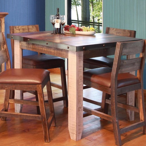 Artisan home 900 antique 42 counter height dining table suburban furniture pub tables Artisan home furniture bar stools