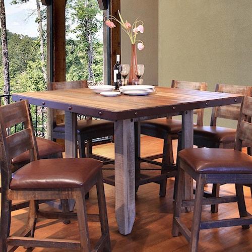 International furniture direct 900 antique 52 counter for Bedroom furniture green bay wi
