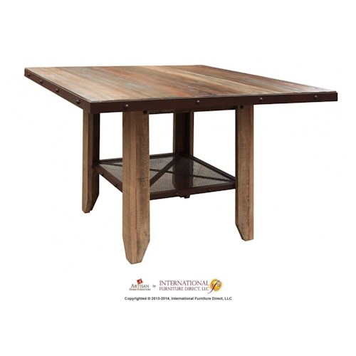 International Furniture Direct 900 Antique 52 Counter Height Dining Table Ivan Smith