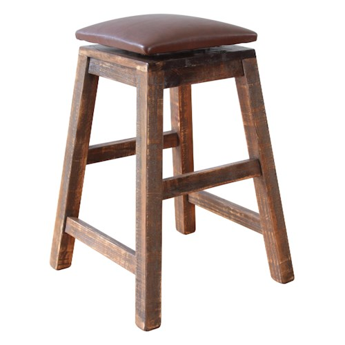 International furniture direct 900 antique 24 swivel for Table height stools