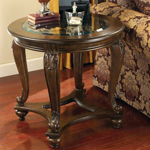 Signature design by ashley norcastle round end table for T furniture okolona ms