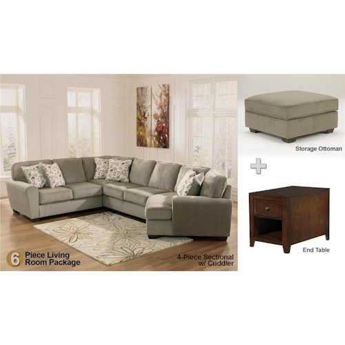 Patina 6 piece sectional living room set rotmans for 6 piece living room set