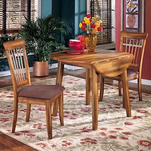 Ashley Furniture Superstore: Ashley Furniture Berringer 3-Piece Drop Leaf Table & 2