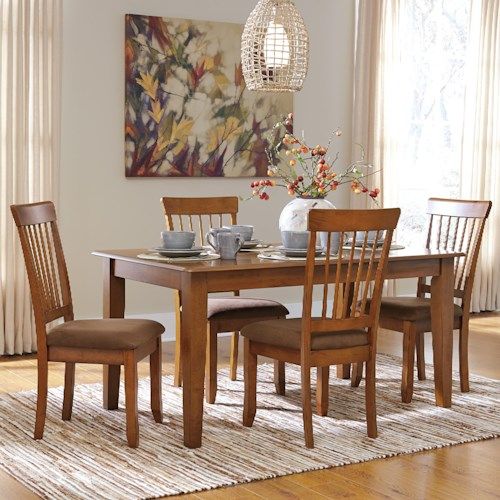Ashley Furniture Berringer 5 Piece 36x60 Table Chair Set Wayside Furniture Dining 5 Piece Sets