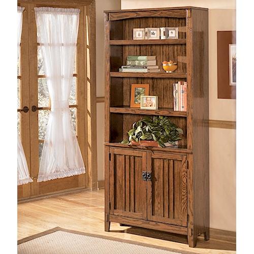 Ashley Furniture Cross Island Large Door Bookcase John V
