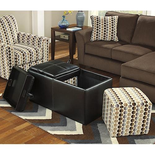 Ashley Furniture Geordie Cafe 2350011 Ottoman With Storage Del Sol Furniture Ottoman