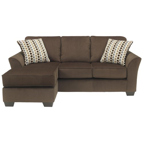 Ashley furniture geordie cafe contemporary sofa chaise for Ashley chaise lounge