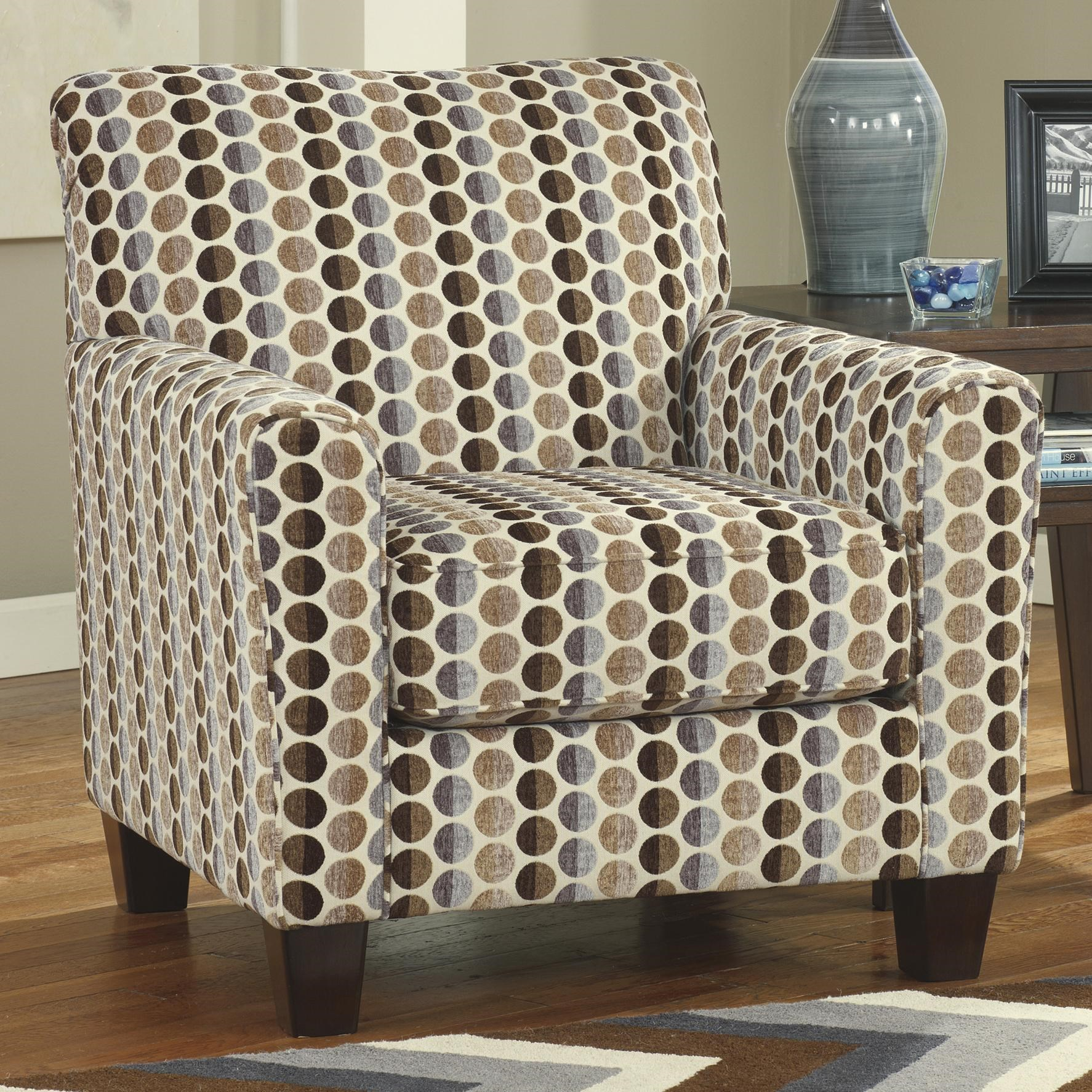Geor Contemporary Accent Chair with Circle Print