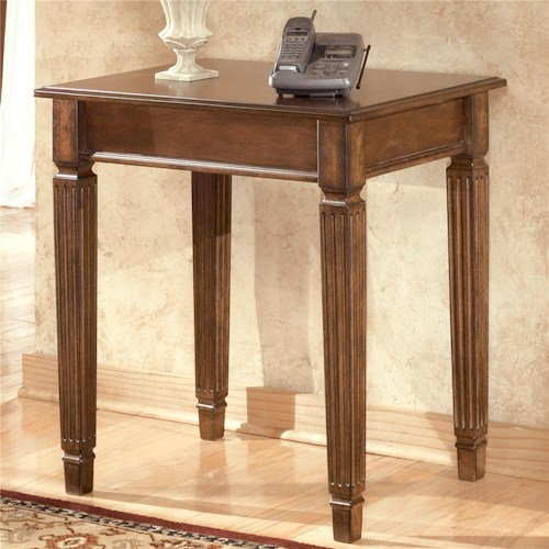 Signature Design By Ashley Hamlyn Corner Table Becker Furniture World End Table Twin Cities