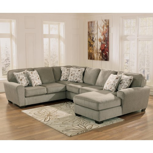 Ashley Furniture Patola Park Patina 4 Piece Small Sectional With Right Chaise Furniture And