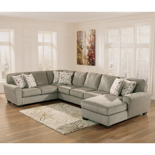 home living room furniture sofa sectional ashley furniture patola park