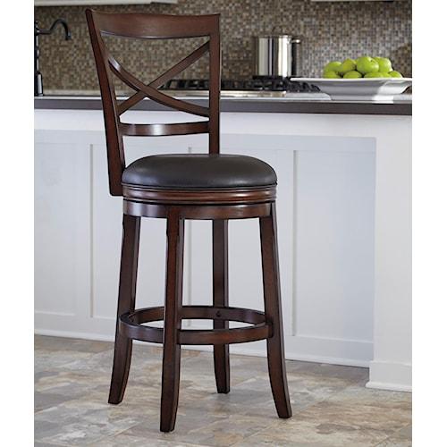 Ashley Furniture Porter Bar Height X Back Tall Upholstered Swivel Barstool Wayside Furniture