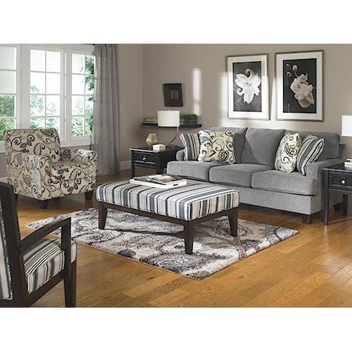 Ashley Furniture Yvette Steel Stationary Living Room