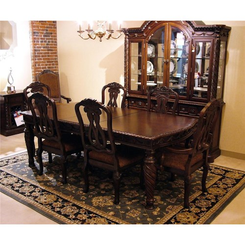 old world 7pc dining table chair set rotmans dining