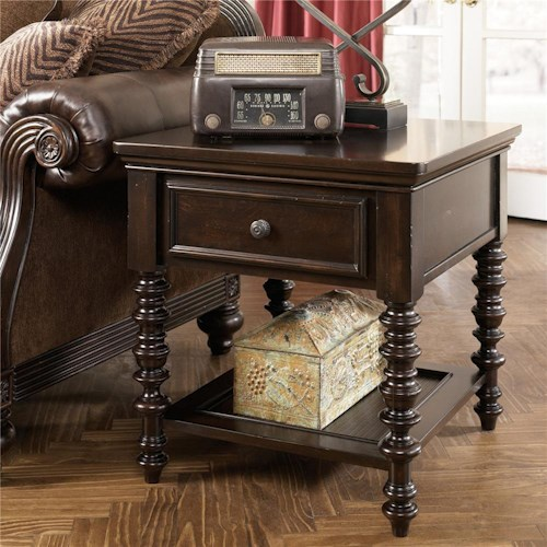 Millennium Key Town 1 Drawer Rectangular End Table Colder 39 S Furniture And Appliance End Tables
