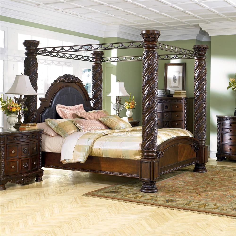 Millennium North Shore King Canopy Bed Lapeer Furniture