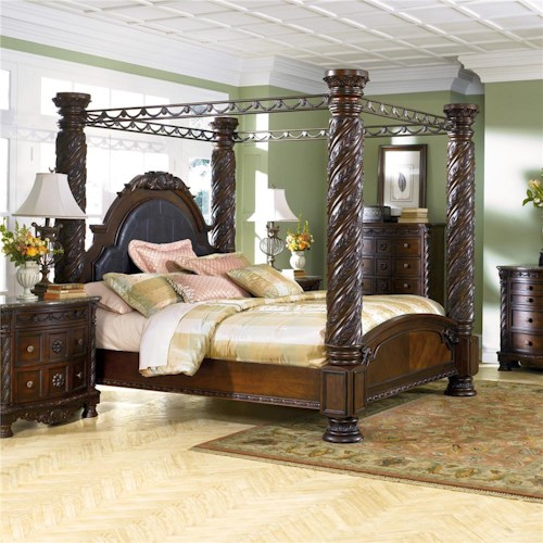 Ashley North Shore King Canopy Bed