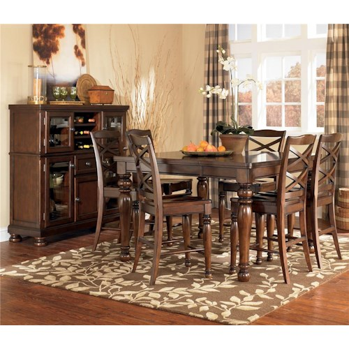 Ashley Furniture Porter House 7 Piece Counter Height Table