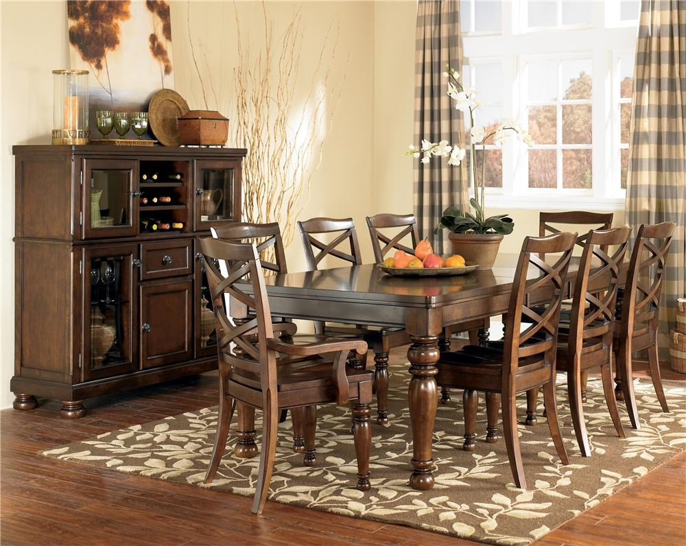 Ashley Furniture Porter 9 Piece Rectangular Extension ...
