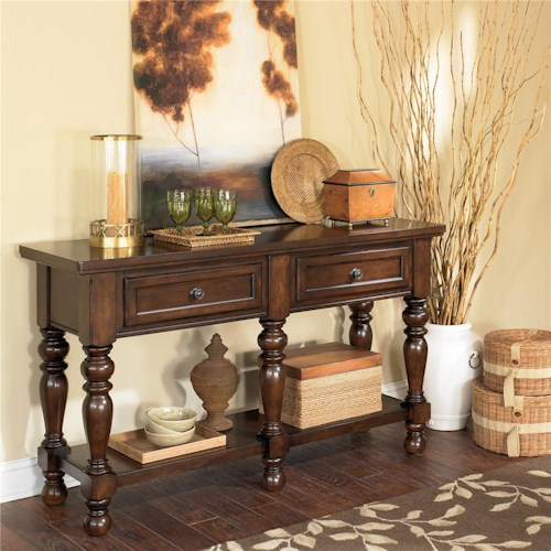 Ashley furniture porter house 5 leg server furniture and appliancemart servers stevens point - Dining room server furniture ...