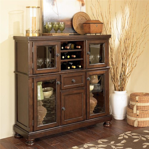 Ashley Furniture Porter Server With Storage Cabinet Wayside Furniture Servers